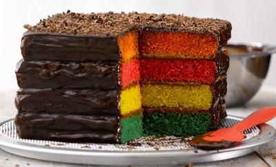 Receta Essen torta multicolor